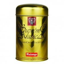 """Кофе """"Malongo"""" Супремо Арабика 250 грамм (Золотая банка)"""