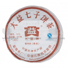 """Шу Пуэр """"7572"""" (Блин) 2007 г.357 гр.Фабрика ДаИ(Менгхай)"""