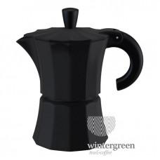 Гейзерная кофеварка Morosina (на 3 чашки) черная