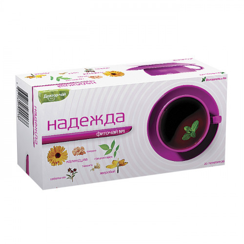 """Володяев и Ко. Фиточай № 1 """"Надежда"""" (20 пакетиков по 2 грамма)"""