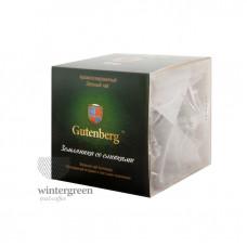 Чай Gutenberg зелёный ароматизированный в пирамидке Земляника со сливками