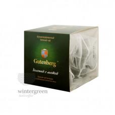 Чай Gutenberg зелёный ароматизированный в пирамидке Зелёный с мятой