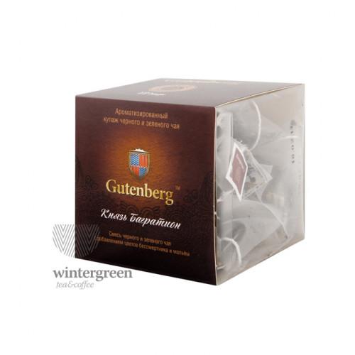 Чай Gutenberg зелёный с черным ароматизированный в пирамидке Князь Багратион