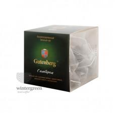 Чай Gutenberg зелёный ароматизированный в пирамидке Зелёный с Имбирем
