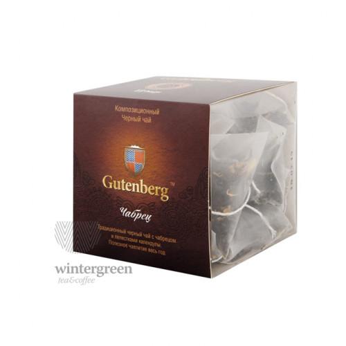 Чай Gutenberg черный ароматизированный в пирамидке Чабрец