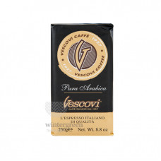 Кофе молотый в вакуумной упаковке Vescovi Арабика 250 гр