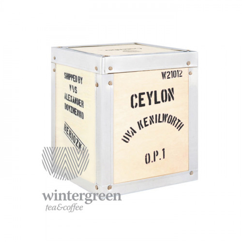 Gutenberg Плантационный черный чай в деревянной коробке Цейлон Ува Кенилворт OPI (100 гр.)