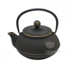 """Чугунный чайник """"Золотистая черепаха"""" 600 мл."""