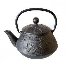 """Чугунный чайник """"Пандовый лес"""", объем 800 мл."""