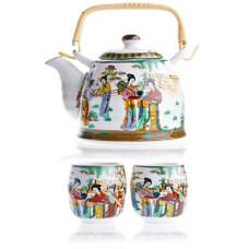 Cервиз чайный на 4 персоны: чайник 800 мл + 4 чашки
