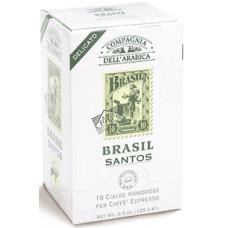 "Кофе в чалдах Compagnia Dell` Arabica ""Brasil Santos"""