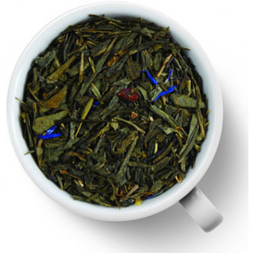 Чай зеленый ароматизированный Gutenberg Клубника со сливками (сенча)