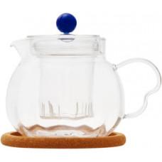 Стеклянный заварочный чайник Гладиолус с заварочной колбой 003822