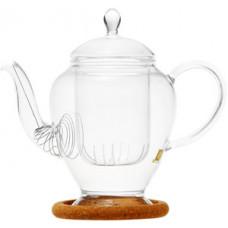 Стеклянный заварочный чайник Гортензия с заварочной колбой 003815