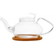Стеклянный заварочный чайник Роза 003812