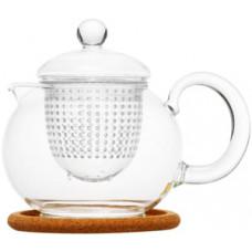 Стеклянный заварочный чайник Пион с заварочной колбой 003824