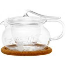 Стеклянный заварочный чайник Гортензия 003816