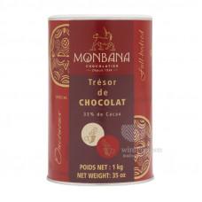 """Горячий шоколад Monbana """"Шоколадное сокровище"""" (Tresor de Chocolat) 1000 г."""