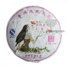 Пуэр Бин Ча с розой Блин 100 гр.