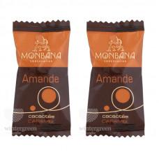 """Шоколадные конфеты Monbana """"Миндаль в шоколаде с ароматом карамели"""" (упаковка 20 шт.)"""