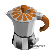 Гейзерная кофеварка Morosina (на 3 чашки). Ромашка.