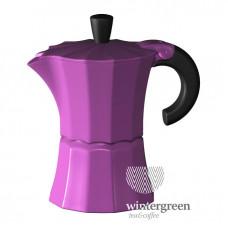 Гейзерная кофеварка Morosina (на 3 чашки) фуксия
