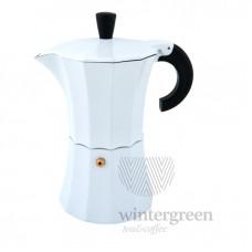 Гейзерная кофеварка Morosina (на 3 чашки). Цвет белый.