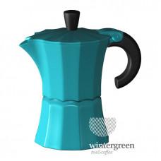 Гейзерная кофеварка Morosina (на 6 чашек). Цвет синий.