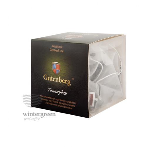 Китайский элитный чай Gutenberg в пирамидке Ганпаудер (Порох)