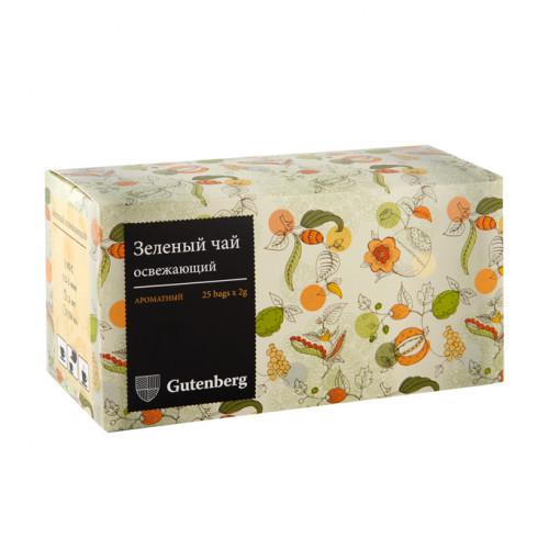 """Чай зеленый пакетированный """"Зеленый освежающий"""" (25шт x 2гр.)"""