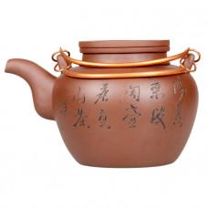 """Чайник глиняный """"Восемь травинок""""1300 мл"""