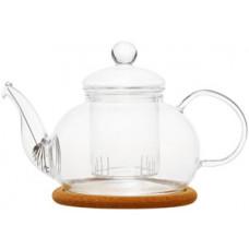 Стеклянный заварочный чайник Орхидея с заварочной колбой 003823