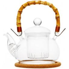 Стеклянный заварочный чайник Мак с заварочной колбой 003819