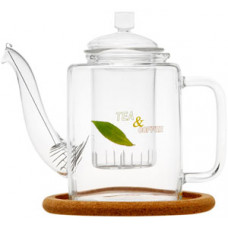 Стеклянный заварочный чайник Ромашка с заварочной колбой 003817